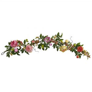 Mixed Peony & Berry Garland
