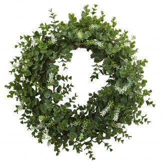 Eucalyptus Double Ring Wreath w/Twig Base