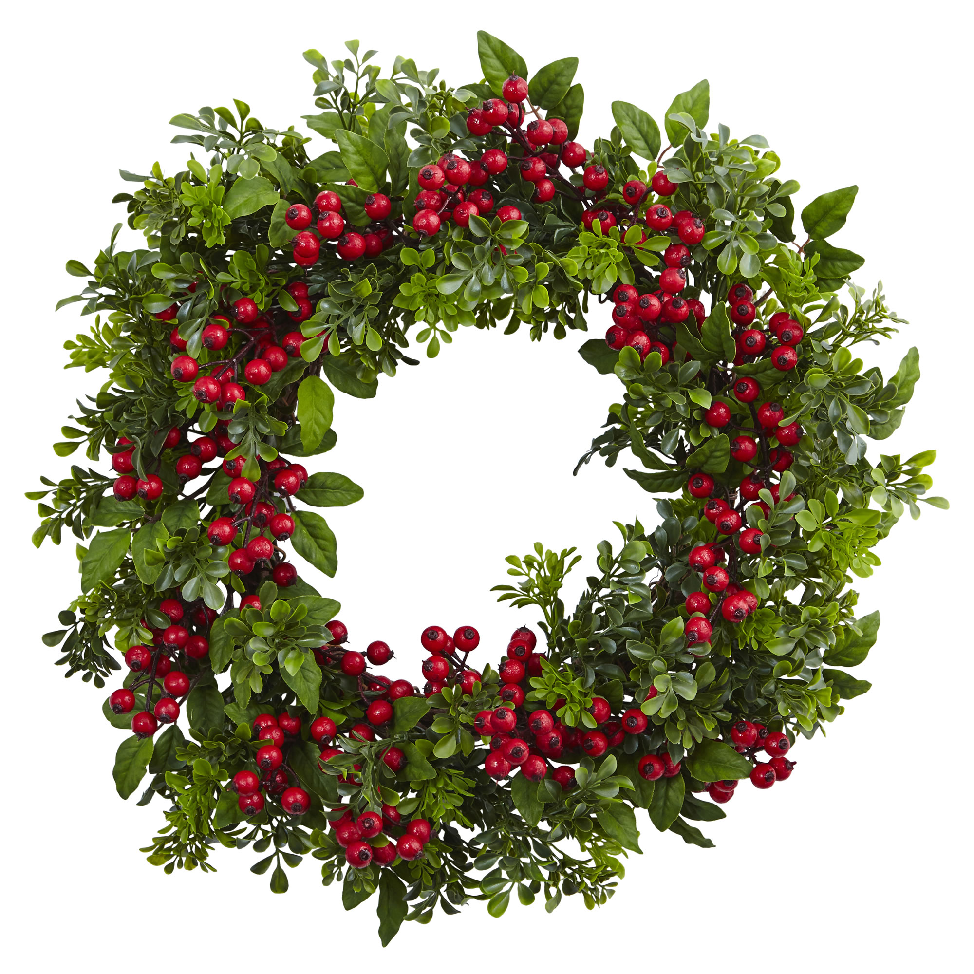 Berry Boxwood Wreath