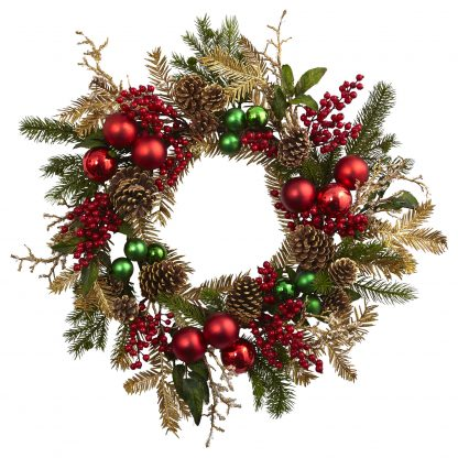 Ornament, Pine & Pine cone  Wreath