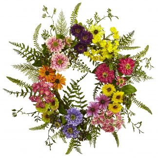 Mixed Floral Garden Wreath