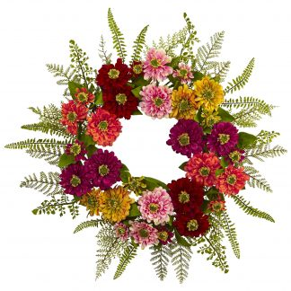 Summer Zinnia Wreath