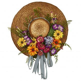 Garden Flower Hat Wreath