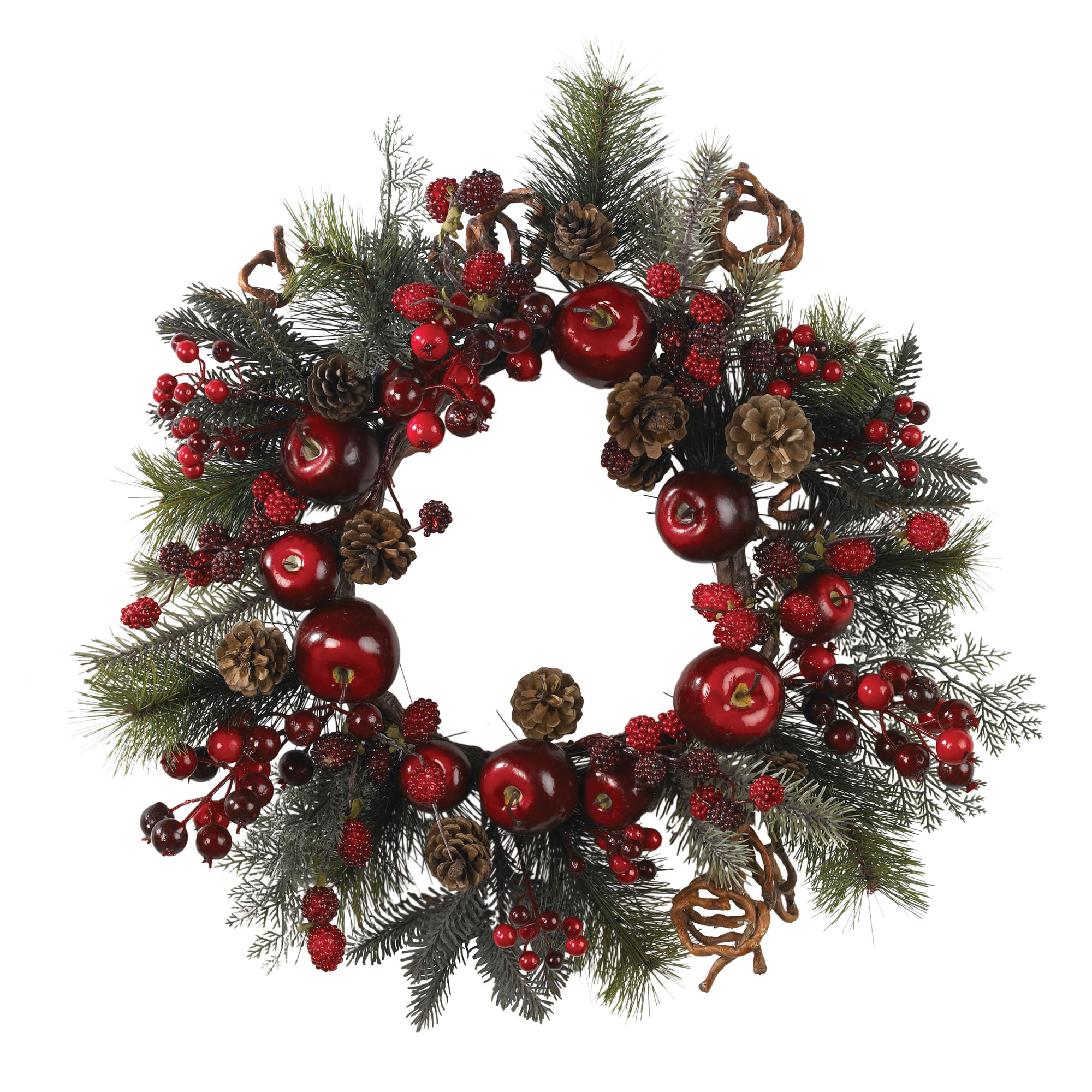 Apple Berry Wreath