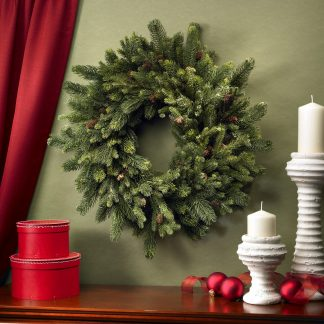 Holiday Pinecone Wreath