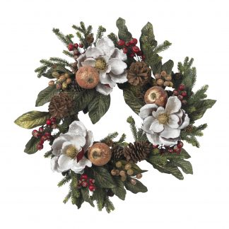 Magnolia Pinecone & Berry Wreath