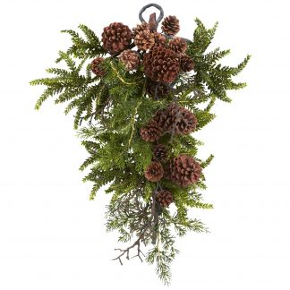 Holiday Pine Cone Teardrop